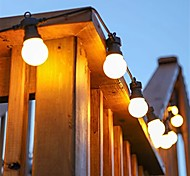 economico -led g50 bulb lamp waterproof 5m led string light outdoor fairy lamp garden patio wedding christmas cafe decoration ac 110v 220v eu us plug