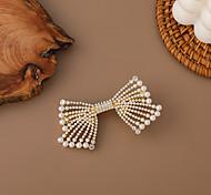 economico -corea bowknot perla diamante accessori per capelli forcina ragazze capelli medio-lunghi indietro testa tornante cravatta capelli primavera clip