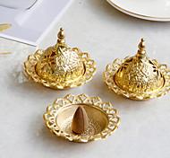 economico -bruciatore di incenso in ceramica piccolo mini in stile mediorientale bruciatore di incenso in metallo dorato ferro arte decorazione del desktop una spedizione