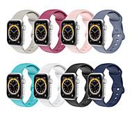 economico -Cinturino intelligente per Apple  iWatch Cinturino sportivo Chiusura classica Silicone Sostituzione Custodia con cinturino a strappo per Apple Watch Serie SE / 6/5/4/3/2/1