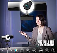 economico -webcam 8809 mini webcam per computer laptop con microfono messa a fuoco automatica anello luce video webcam 1080p 2k trasmissione in diretta web cam versione 4k