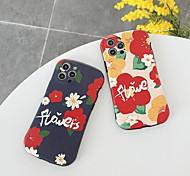 economico -telefono Custodia Per Apple Per retro iPhone 12 Pro Max 11 SE 2020 X XR XS Max iPhone 11 Pro Max SE 2020 X XR XS Max 8 7 Resistente agli urti A prova di sporco Fantasia / disegno Fiore decorativo TPU