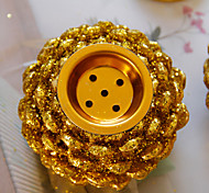 economico -Bruciatore di incenso a cono di pino in metallo dorato in stile europeo combinato diffusore di aromi da tavolo in stile arabo del Medio Oriente una consegna