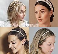 abordables -bijoux de cheveux femmes filles pour anniversaire rue bal fête d'anniversaire classique imitation perle blanc 1pc
