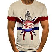 economico -Per uomo Unisex Magliette maglietta Stampa 3D Stampe astratte Umano Tappo di bottiglia Taglie forti Con stampe Manica corta Casuale Top Essenziale Di tendenza Originale Grande e alto Giallo