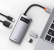 economico -BASEUS Alta velocità Con lettore di schede (s) OTG Supporta la funzione di consegna dell'alimentazione USB 3.0 USB C a HDMI 2.0 USB 2.0 USB 3.0 USB 3.0 USB C Hub USB 4 Porti Per Windows, PC, laptop