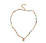 economico -Per donna Collana di fili Collana Cuori Di tendenza Europeo Boho Resina Lega Arcobaleno 48 cm Collana Gioielli 1 pc Per
