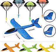 economico -Confezione da 8 aeroplani in schiuma 2 in 1 e set combo giocattolo con paracadute, 2 aerei per alianti in modalità di volo, grandi aerei e paracadute in schiuma da lancio, giocattoli volanti per