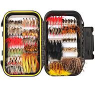 economico -40/72/100/120 pz kit di esche artificiali esche da pesca mosche leggere e convenienti facili da usare trota luccio pesca a mosca pesca d'acqua dolce pesca con esche artificiali