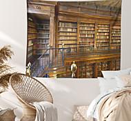abordables -Étagère à livres bibliothèque murale tapisserie art décor couverture rideau suspendu maison chambre salon décoration polyester