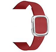 economico -Cinturino intelligente per Apple  iWatch 1 pcs Chiusura moderna Vera pelle Sostituzione Custodia con cinturino a strappo per Apple Watch Serie SE / 6/5/4/3/2/1