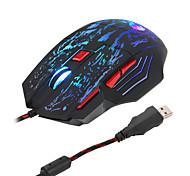 economico -Mouse da gioco cablato a 5500 dpi, mouse, USB, ottico, con 7 pulsanti, luci a led, mause, gamer, per PC, laptop, desktop, computer game