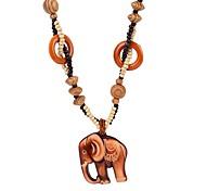 economico -Per donna collana lunga Vintage ▾ Legno Colore dell'immagine 64 cm Collana Gioielli 1 pc Per Festival