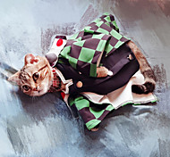 economico -ispirato da anime demon slayer pet costume cat dog / cat cosplay halloween dog / cat costume