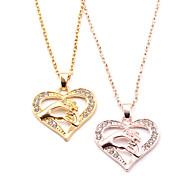 economico -regali di cavallo per le donne delle ragazze, collana di cavallo placcato oro 14k gioielli per ragazze adolescenti regali di amante del cavallo collane con ciondolo a cuore di cavallo bambini bambini