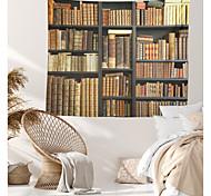 abordables -Bibliothèque livre étagère tapisserie murale art décor couverture rideau suspendu maison chambre salon décoration polyester