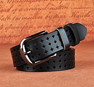 economico -Per donna Per il girovita Quotidiano Sport Formale Ufficio Caffè Rosso vera pelle Cintura Tinta unica