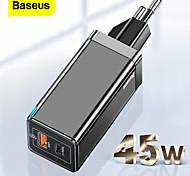 economico -BASEUS 45 W Potenza di uscita USB USB C Caricatore PD Caricatore veloce Caricatore del telefono Caricatore GaN Caricatore per laptop Caricabatterie portatile Multiuscita Ricarica veloce Per iPad