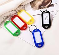 economico -20 pezzi di plastica portachiavi portachiavi etichette ID etichetta nome con anello diviso per portachiavi bagagli portachiavi