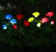 economico -lampada da giardino a led solare da esterno a forma di rosa luci da prato impermeabili da giardino per matrimoni decorazione da patio sentiero lampada da paesaggio a led