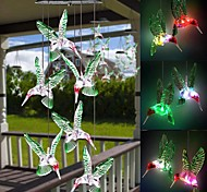 economico -Lampada a forma di colibrì a forma di colibrì lampada solare impermeabile da esterno colorata lampada da giardino a forma di colibrì
