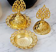 economico -stile mediorientale piccolo mini bruciatore di incenso arabo oro ferro arte metallo bruciatore di incenso decorazione da tavolo spedizione di un pezzo