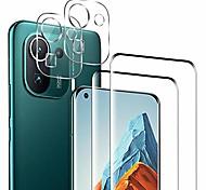economico -telefono Proteggi Schermo Per XIAOMI Mi 11 Redmi Note 9T Poco X3 NFC Redmi 9T Mi 10 Vetro temperato 4 pezzi Alta definizione (HD) Anti-graffi Proteggi lente frontale e fotocamera Appendini per