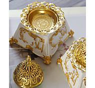 economico -bruciatore di incenso in resina araba del medio oriente bruciatore di incenso combinato in metallo dorato diffusore di aromi classico in stile retrò una spedizione