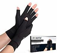 economico -2 paia di guanti di compressione in rame per donna uomo, guanti di compressione per artrite senza dita con rinforzo del polso per alleviare i dolori del tunnel carpale, dolori reumatoidi, gonfiore