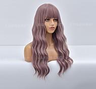 abordables -nouvelle perruque européenne et américaine d'Amazon dames couleur glycine cheveux longs bouclés fibre chimique perruque usine de coiffures Vente en gros