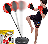 economico -set sacco da boxe per bambini incluso palla da boxe con supporto, guanti da allenamento boxe, pompa a mano e supporto regolabile in altezza, set di palline da boxe giocattolo per 3 4 5 6 7 8-10 anni