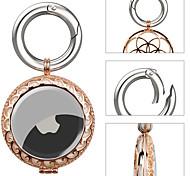 economico -custodia protettiva in metallo di lusso per airtag custodia in pelle di strass portatile con portachiavi custodia leggera antigraffio anti-perso compatibile con anello airtag