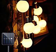 abordables -solaire extérieur étanche 5m guirlande lumineuse g50 ampoules lumineux petite ampoule de mariage jardin patio balcon café magasin décoration lampe ip65 étanche