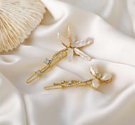 economico -forcina coreana accessori per capelli piccola clip perla fiore parola clip tornante net clip rossa copricapo carta di fiori per bambini