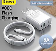 economico -BASEUS 30 W Potenza di uscita USB USB C Caricatore PD Caricatore veloce Caricatore del telefono Caricabatterie portatile Multiuscita Ricarica veloce Kit caricabatterie Per Universale