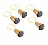 economico -luce solare esterna della stringa 2m 20 led luci da giardino filo di rame bottiglia di vino tappo a batteria luci della stringa fata luci della stringa esterna bianco caldo rgb bianco impermeabile