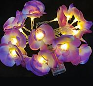 economico -Led Flower String Light Decoration Phalaenopsis Light Frangipani Floreale Luci Home Christmas Party Giardino Patio Decor Light String Christmas Wedding
