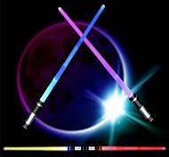 economico -spada luminosa 2-in-1 led (6 colori) fx spada laser con suono (sensibile al movimento) per bambini e adulti spada laser e varie feste scena concerto (2 pezzi) (spada laser)