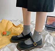 economico -piccole scarpe in pelle stile britannico retrò con fibbia a testa tonda femminile scarpe mary jane 2021 nuove scarpe jk giapponesi primaverili ed estive