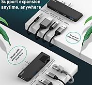 economico -BASEUS CAHUB-FT01 USB 3.0 Tipo C to HDMI 2.0 / USB 3.0 / USB 3.0 Tipo C / Audio da 3,5 mm Hub USB 4 Porti Con lettore di schede (s) / OTG