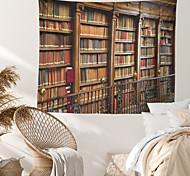 abordables -Étagère livres tapisserie murale art décor couverture rideau suspendu maison chambre salon décoration polyester