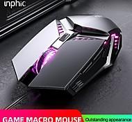 abordables -inphic home usb filaire 4800dpi souris muet 6 touches macro programmation manipulateur sensation e-sport jeu souris pour pc ordinateur portable portable