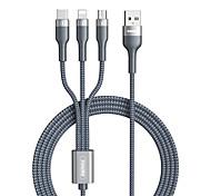 economico -Remax Micro USB Lightning USB C Cavi Tutto-in-1 1 a 3 Alta velocità 2 A 1,2 m (4 piedi) TPE Per Samsung Xiaomi Huawei Appendini per cellulare