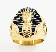 economico -anelli del faraone egiziano in acciaio inossidabile placcato oro occhio egiziano di horus croce della vita anelli ankh e sfinge gioielli da motociclista punk per gli uomini