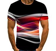 economico -Per uomo Unisex Magliette maglietta Camicia Stampa 3D Stampe astratte Acqua corrente Taglie forti Con stampe Manica corta Casuale Top Essenziale Di tendenza Originale Grande e alto Rotonda Nero