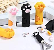 economico -3 pezzi / set simpatico artiglio di gatto forbici morte custodia protettiva in silicone pratico strumento anti-caduta per unghie a tre colori ins colore