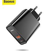 economico -BASEUS 30 W Potenza di uscita USB USB C Caricatore PD Caricatore veloce Caricatore del telefono Caricabatterie portatile Multiuscita Ricarica veloce Per Universale