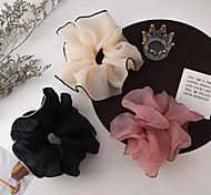 abordables -princesse française ~ petit vent parfumé contraste couleur maille cravate à cheveux grande corde à cheveux gros intestin cercle ins net fille rouge accessoires de cheveux