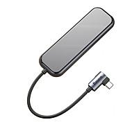 economico -BASEUS Alta velocità USB 3.0 USB C a USB 3.0 USB 3.0 USB C Hub USB 5 Porti Per Windows, PC, laptop
