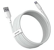 abordables -BASEUS USB C Câble Haut débit Charge Rapide 5 A 1.5M (5Ft) PVC TPE Pour Samsung Xiaomi Huawei Accessoire de Téléphone